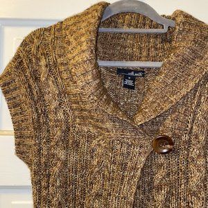 WILLI SMITH brown cable knit cardigan